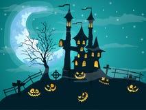 Halloween-nacht achtergrondvector Stock Fotografie