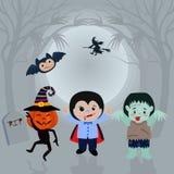Halloween-Nacht kann für Kartentapete verwenden stock abbildung