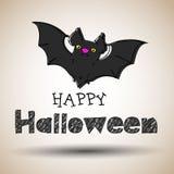 Halloween, nacht, maan, verschrikking, knuppel, achtergrond, griezelig oktober, royalty-vrije illustratie