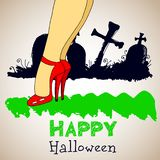 Halloween, nacht, maan, verschrikking, knuppel, achtergrond, griezelig oktober, ontwerp royalty-vrije illustratie