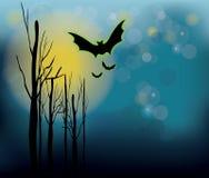 Halloween-nachtachtergrond Stock Fotografie