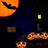 Halloween-nachtachtergrond Stock Foto