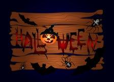 Halloween-nachtachtergrond Stock Afbeelding