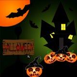 Halloween-nachtachtergrond Royalty-vrije Stock Afbeeldingen