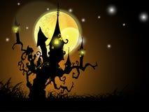 Halloween-Nachthintergrund lizenzfreie stockfotos