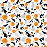 Halloween-nahtloser Hintergrund Lizenzfreies Stockbild