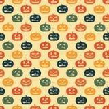 Halloween-nahtloser Hintergrund mit Kürbis. Lizenzfreie Stockbilder