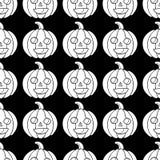 Halloween-nahtloses Muster mit Kürbis Furchtsame Farbtonseite für lizenzfreie abbildung
