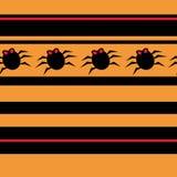 Halloween-nahtloses Muster mit Spinnen Lizenzfreie Stockfotografie