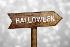 Halloween Naprzód Drogowy znak Obrazy Stock