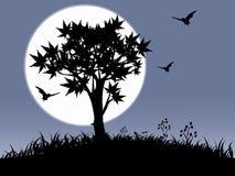 halloween natt royaltyfri illustrationer