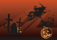 halloween natt Stock Illustrationer