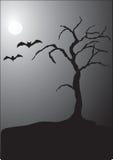 halloween nattplats stock illustrationer