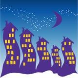 halloween nattsky Royaltyfri Bild