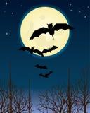 halloween natttema stock illustrationer