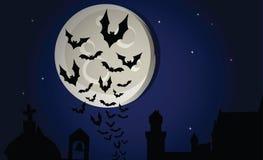 halloween nattvektor vektor illustrationer