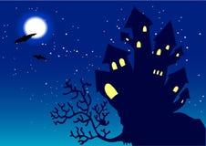 halloween nattvektor stock illustrationer