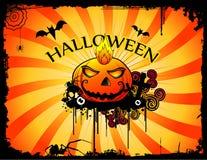 halloween nawiedzał bania wektor royalty ilustracja