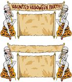 Halloween Nawiedzał Domowego przyjęcia mamusi dziewczyny royalty ilustracja