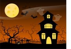 halloween nawiedzał dom Zdjęcia Stock