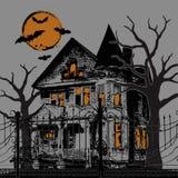 halloween nawiedzał dom Zdjęcia Royalty Free