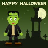 Halloween Necropolis and Frankenstein Royalty Free Stock Photo