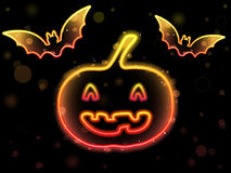 Halloween Neon Background Royalty Free Stock Photos