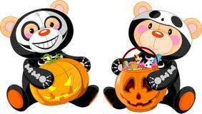 halloween niedźwiadkowy miś pluszowy ilustracji
