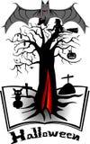 Halloween nietoperza ustalona krew Zdjęcie Royalty Free