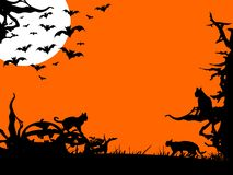 Halloween nigh - three color illustration. Halloween nigh - three color background illustration royalty free illustration