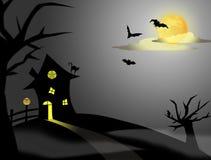 Halloween night stock photography