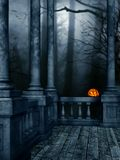 Halloween Night. A premade background for artists and designers to use Royalty Free Stock Photo