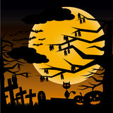 Halloween night. Halloween dirty night vector illustration Stock Images