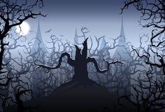 Halloween night. Illustration of halloween night scene Stock Photography