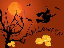 Halloween night. Vector illustration of halloween night Royalty Free Stock Photo