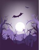 Halloween night. Spooky scary halloween design for you Stock Photos