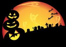 Halloween  night. Halloween night Night on cemetery phantoms Stock Photography