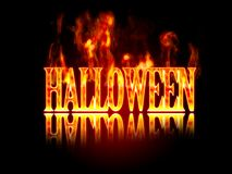 Halloween night. Illustration of Halloween night  with a fire Royalty Free Stock Images