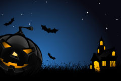 Halloween night background Stock Photos