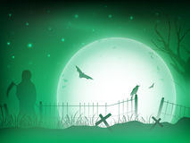 Halloween night background. Stock Photo