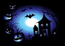 Halloween night background Stock Image
