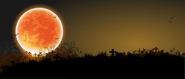 Halloween night background Stock Images