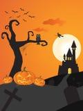 Halloween night background. Stock Image