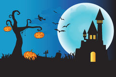 Halloween night background. Royalty Free Stock Photo