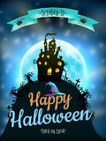 Halloween night background. EPS 10 Royalty Free Stock Images