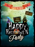 Halloween night background. EPS 10 Royalty Free Stock Photos