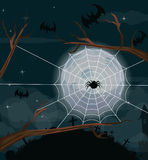 Halloween night background with full Moon Royalty Free Stock Photography