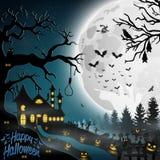 Halloween night background. Illustration of Halloween night background Royalty Free Stock Photo