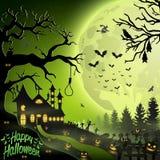Halloween night background. Illustration of Halloween night background Royalty Free Stock Image