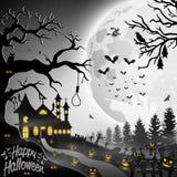 Halloween night background. Illustration of Halloween night background Stock Photo